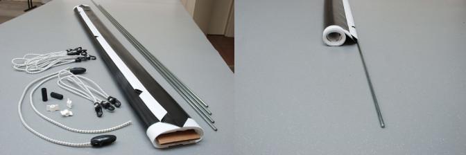 Adeo easy surface leinwandtuch bis 16m mit sen zum spannen - Beamer leinwand selbstbau ...