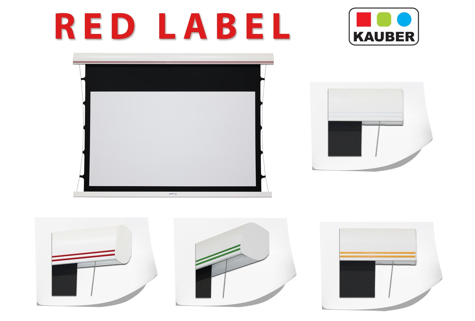 kauber motorleinwand red label tension g nstig online kaufen. Black Bedroom Furniture Sets. Home Design Ideas