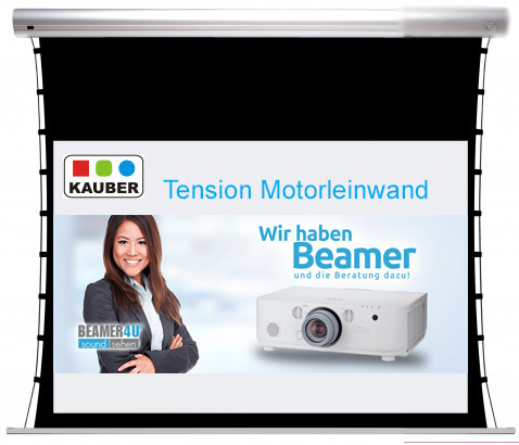 Kauber Motorleinwand Blue Label Tension Clear Vision