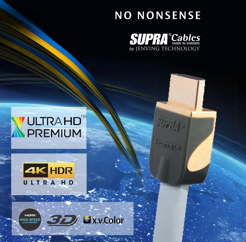 Supra HDMI Kabel für 4K Ultra HD UHDTV geeignet - Top HDMI Kabel