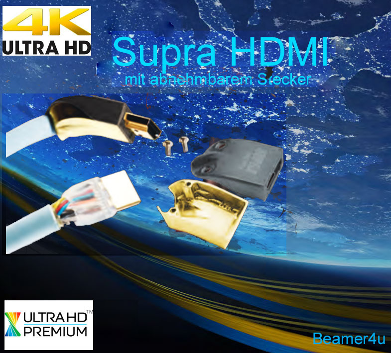 Supra HDMI Kabel abnehmbarer Stecker 4K Ultra HD - Top HDMI Kabel